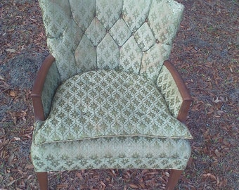 Vintage chair, green, avocado, accent piece