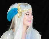 SALE! Princess of Power Double-sided Headdress - Ostrich Feathers & Sequins - Festival/She-Ra Cosplay/Halloween Costume Accessory