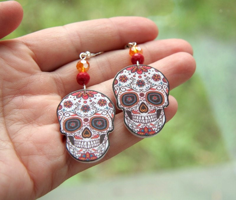 Image result for Skull Earrings
