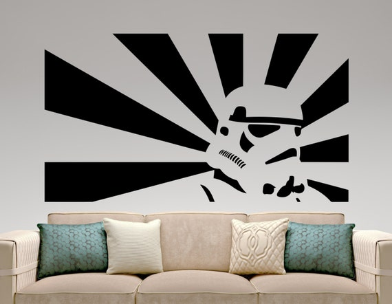 Star Wall Decor Ideas: Stormtrooper Sticker Star Wars Wall Decal Movie Design Art