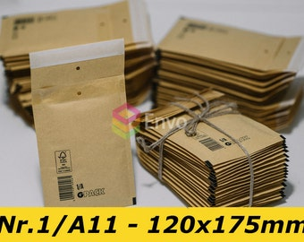 "Jewelry Packaging 50 #000 4x8 Kraft Bubble Mailers Padded Envelopes 4 x 8, 120mm x 175mm / 4"" x 8"" / A/11"