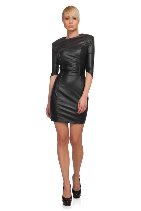 leather dress bdsm latex dress black dress black cocktail. Black Bedroom Furniture Sets. Home Design Ideas