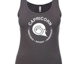 CAPRICORN - 2 Colors - What's Your Sign Tank Royal Blue or Dark Gray