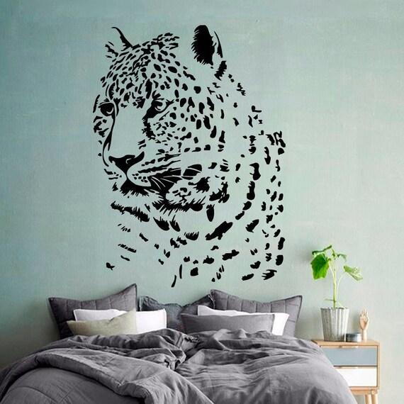 cheetah wall decal zoo vinyl stickers safari by tiger wall sticker wild cheetah cat african animal tiger