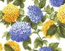 Garden Periwinkle and Gold Hydrangea Curtains!!! - Floral Curtains!!! They are Just Beautiful!!! Dimensions are 63, 84, 90, and 120 inches.