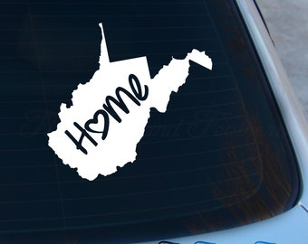 West Virginia Decal - State Decal - Home Decal - WV Sticker - Love - Laptop - Macbook - Car Decal