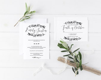 Rustic Casual | Wedding Invitation Suite | Ashleigh Suite | Custom Made | DIY Printable | Wedding Stationary
