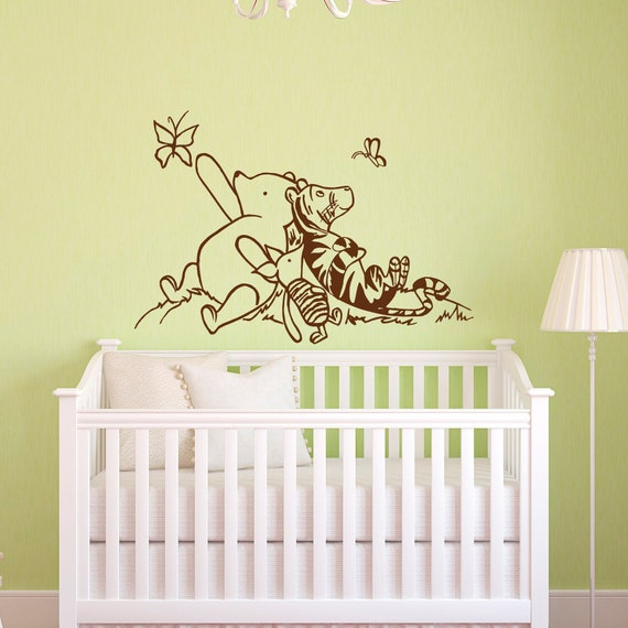 Winnie the pooh wall decals nursery classic winnie the pooh for Classic winnie the pooh mural