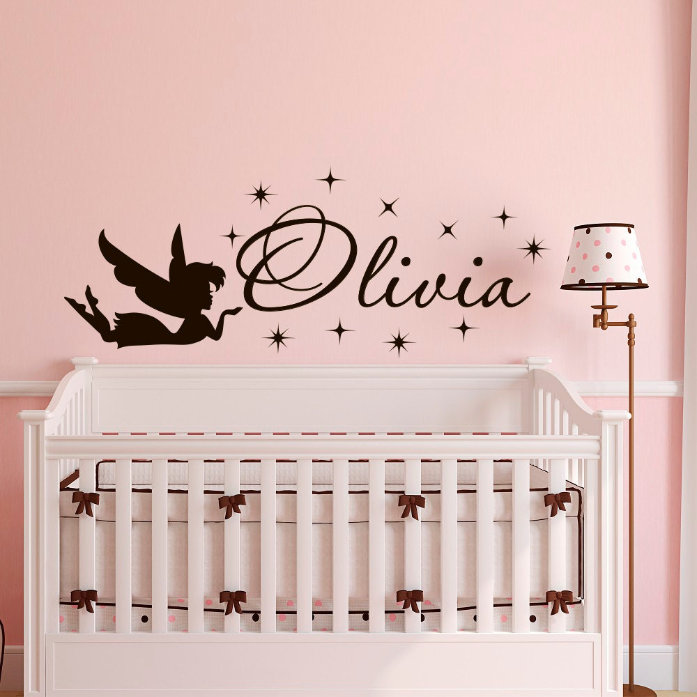 Name Wall Decals For Nursery Tags: Girl Name Wall Decal Wall Decals Nursery For Girls By