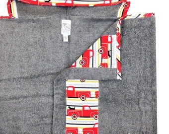 Best Friend's Ride Hooded Towel Red Gray Black