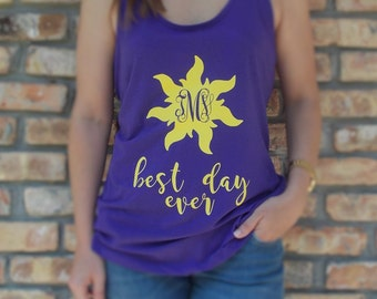 Disney Inspired Tangled Tank for Women & Kids / Princess Rapunzel Tank / Best Day Ever Shirt / Disney Princess Rapunzel Shirt