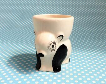 Vintage ceramic panda egg cup 1950s
