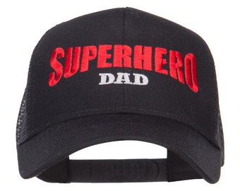 Superhero Dad Embroidered Trucker Cap