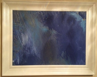 """Hand painted, acrylic painting """"Oceans"""""""