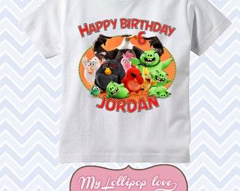 Angry Birds -Personalzed Birthday Shirt