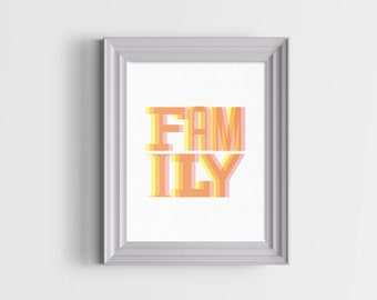 Family Typography Print. 30% OFF With Code: 30SALE