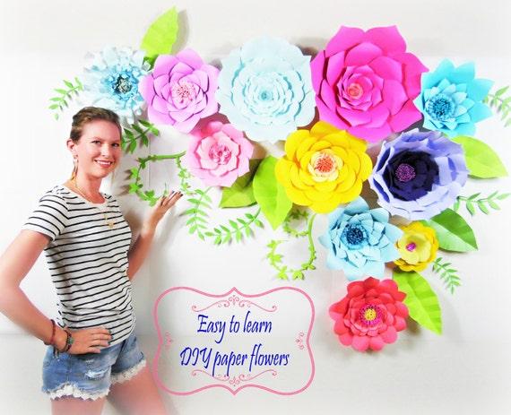 Diy wedding decor diy giant paper flower backdrop diy paper flower il570xn mightylinksfo