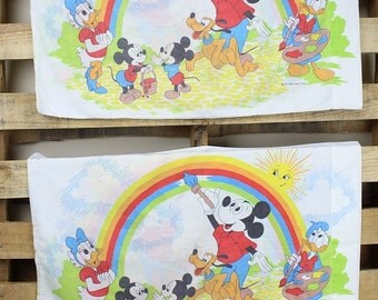Set of Mickey Mouse & Friends Pillowcases