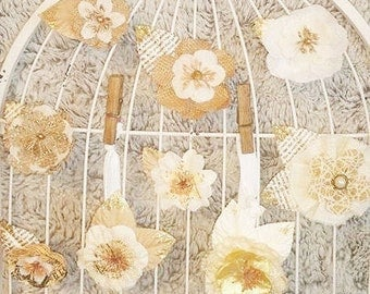 Handmade Vintage Flower Hair Clips & Headbands