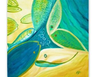 "Acrylic painting - ""Living"""