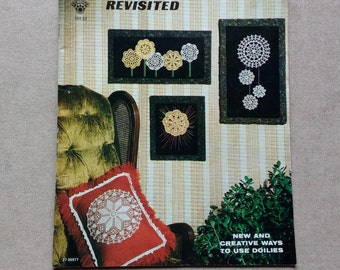 "1977 ""Crochet Doilies Revisited"" Craft Course Pub. Pattern Book / 12 Doily Patterns / 6 New Uses / New And Creative Ways To Use Doilies"