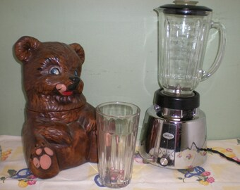 CLEARANCE! Vintage 1960's Sunbeam Blender Stainless Steel with Heavy Glass Jar with Handle
