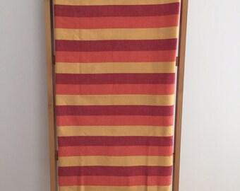 Tunisian Fouta, towel sheet Beach, tablecloth, red stripes orange yellow, yoga mat / Bath towel beach yoga tablecloth / lesptitskdo