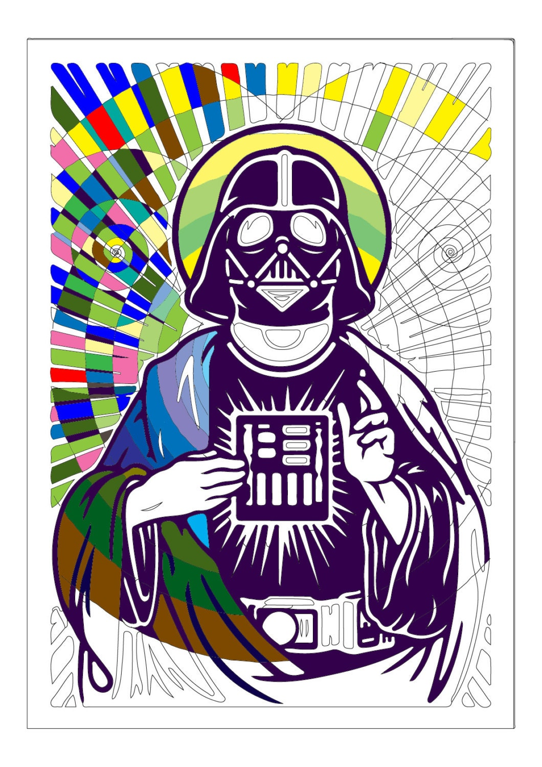 pop art darth vader the preacher star wars coloring page. Black Bedroom Furniture Sets. Home Design Ideas