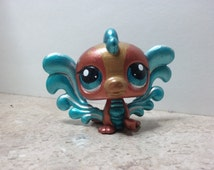 "Custom OOAK Littlest Pet Shop Water Dragon ""Gracie""- LPS Custom"