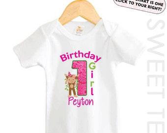 Monkey first Birthday Shirt Safari Animal Personalized Age Shirt