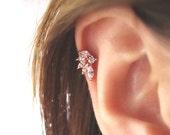 CZ Stud Piercing/Tragus Earring/Cartilage earring/Tragus stud /Tragus Piercing/CZ piercing/Labret bar optional/Helix Earring/conch earring