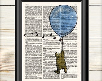 Winnie the Pooh Wall Art, Gift for Kids, Dictionary Print, Pooh Birthday, Nursery Print, 147
