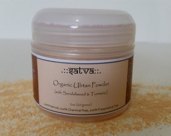 Organic Ayurvedic Face Scrub with Sandalwood and Turmeric - Tridoshic (All Skin Types) w/ Free Shipping