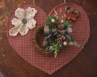 Homespun Heart Wall Decor