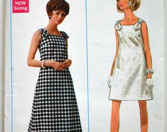 Uncut 1960s Butterick Vintage Sewing Pattern 4880, Size 10; Misses' Evening Dress