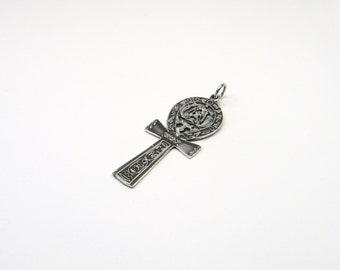 Ankh Ankh jewelry pendant with hieroglyphs