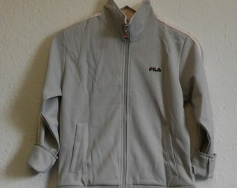 Retro baige and light pink fila jacket - uk8 fitted