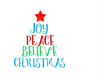 Peace Love Joy Christmas    SVG Cut file  Cricut explore file