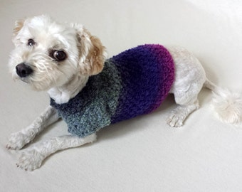 puppy clothes, crochet dog sweater, small dog shirt, dog pullover, yorkie clothes, dachshund clothes, dog coat xs, teacup dog clothes