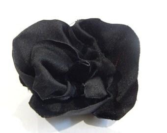 Black Rose Hair Clips