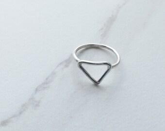 CLIMB...minimal triangle ring, triangle ring, geo ring, triangle midi