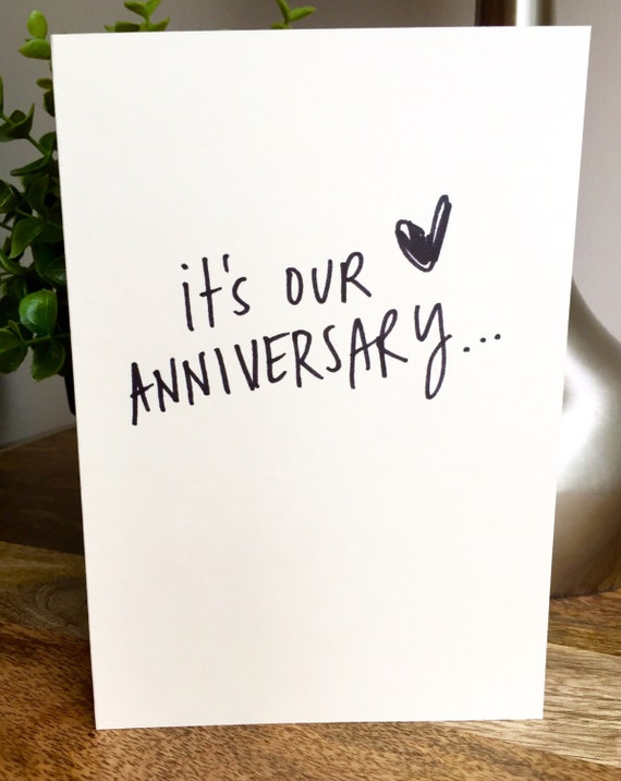 One Year Anniversary Card for husband, Paper Anniversary, Card for wife, 365 days, 1st wedding anniversary, one year anniversary, love note