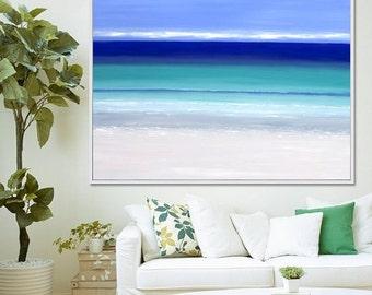 Seascape, Abstract Print, Abstract Painting, Original Artwork, Coastal Art,  Canvas Print Contemporary Art, Giclee Print, Acrylic Painting