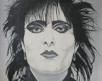 Siouxsie, Siouxsie and the Banshees - Giclee Fine Art Print.