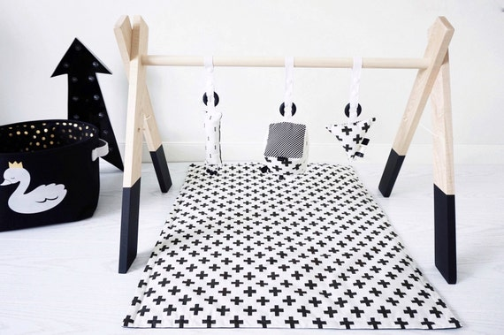 Items Similar To Dipped Wooden Baby Activity Play Gym
