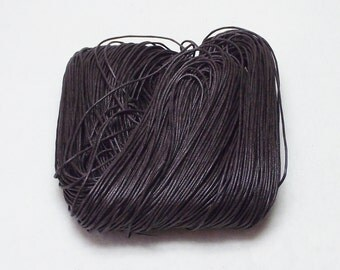 10 Yards (30 Feet) Black Waxed Cotton 1mm Beading Cord