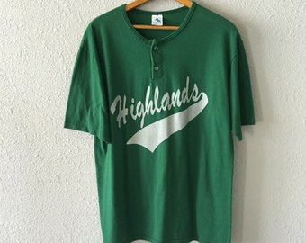 1990's Highlands #1 Vintage Baseball T Shirt