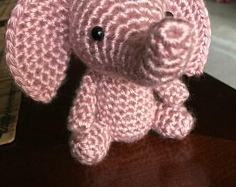 Pink Elephant, Amigurumi Elephant, Crochet Elephant, Stuffed Elephant, Cute Crochet Elephant, Handmade Plushie