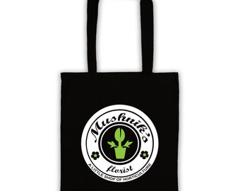 Mushnik's  florist like LITTLE SHOP of HORRORS classic horror movie new tote bag, shopper bag for life, different colours, 80's cult classic