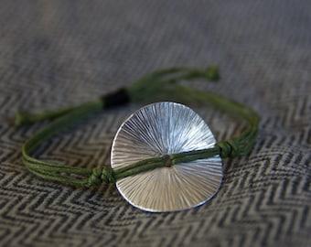 Silver Disk Bracelet